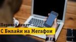 Все способы быстрого перевода денег с Билайна на Мегафон