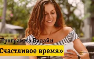 Описание программы лояльности «Счастливое время» от Beeline