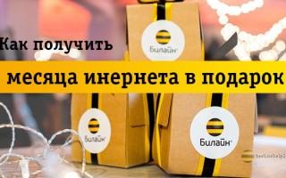 Билайн раздает подарки: 3 месяца безлимитного интернета бесплатно