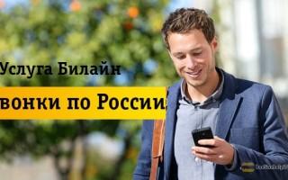 Как быстро подключить и отключить «Звонки по России» от Beeline