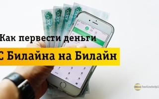 Самые удобные способы для перевода денег с Beeline на Beeline