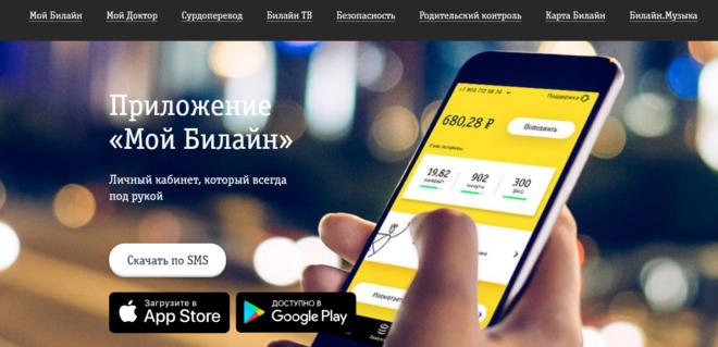 Информация на экране мобильного