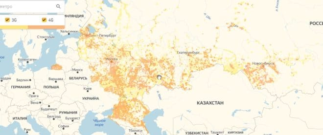 Оранжевые пятна на карте