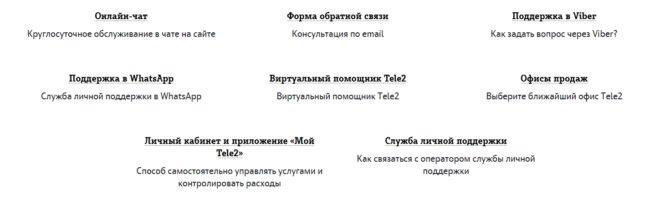 Перечень опций